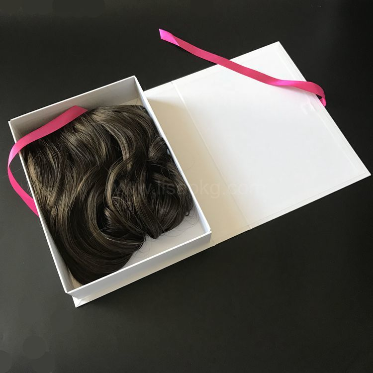 New Produced Luxury Custom Hair Extension Packaging Wig Boxes